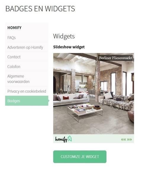 5. Wat is een widget:   door homify help