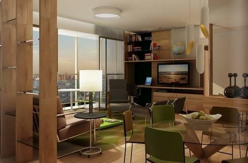 Let's Perdizes | edifício: Salas multimídia modernas por ARQdonini Arquitetos Associados