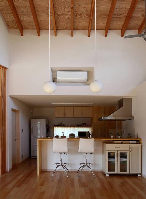 一色白山の家/house of isshikihakusan: haco建築設計事務所が手掛けたキッチンです。