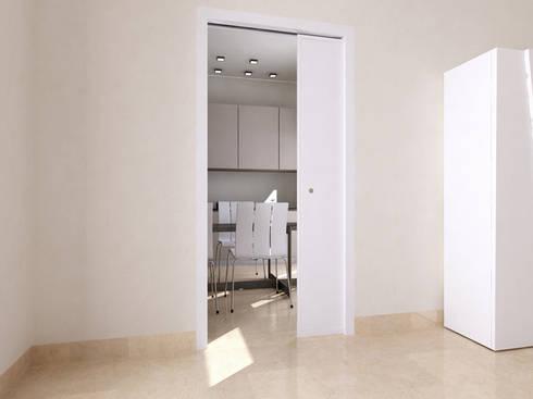 Puertas correderas de puertas calvente s c p homify - Casoneto puerta corredera ...