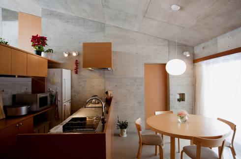 雁木のある家: YASUO TERUI Architects Inc.が手掛けたキッチンです。