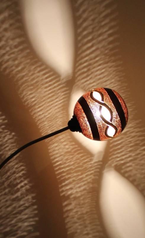lampe calebasse: Art de style  par les zilluminés de la calebasse