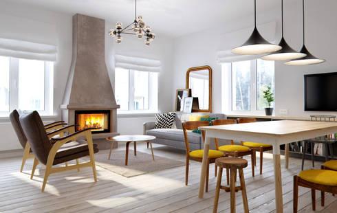 Salas de estilo escandinavo por INT2architecture
