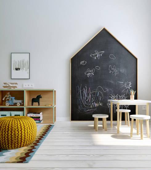 scandinavian Nursery/kid's room by INT2architecture