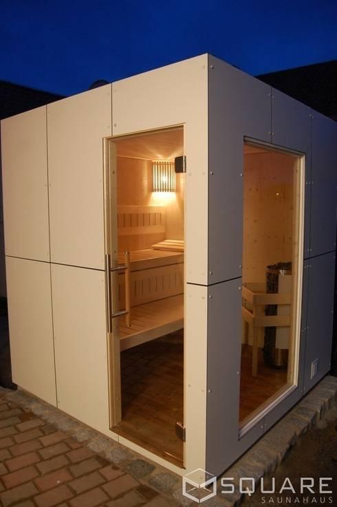 saunahaus square box fassade wei e hpl platten von square saunahaus homify. Black Bedroom Furniture Sets. Home Design Ideas