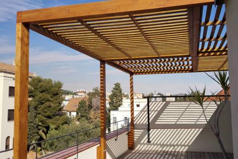 prgola para terraza de un piso en barcelona - Pergola Terraza