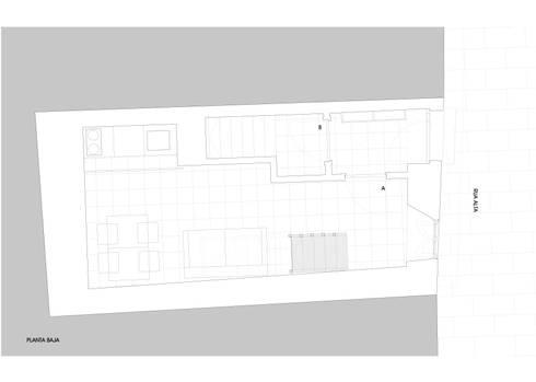 Planta baja:  de estilo  de Estudio de Arquitectura Sra.Farnsworth