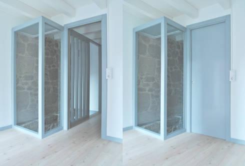 Vista desde el dormitorio del dúplex. Planta primera: Dormitorios de estilo escandinavo de Estudio de Arquitectura Sra.Farnsworth