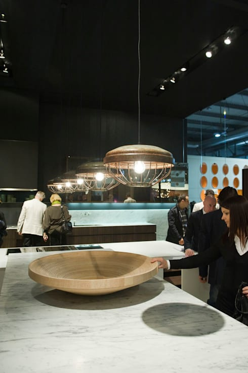 Twisted Bowl Poliform stand Salone Del Mobile 2012:  Gastronomie door Studio Erwin Zwiers