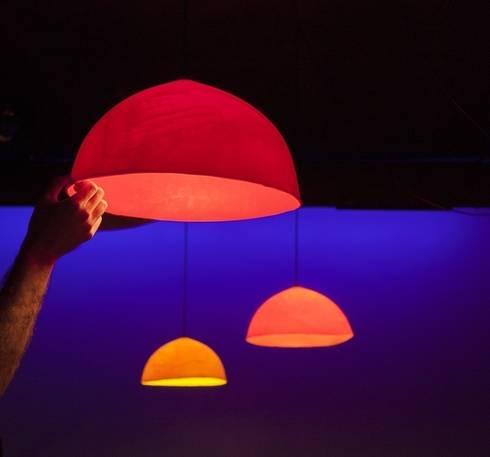 BUIA Diametro 40 cm (Rojo, Naranja y Amarillo): Hogar de estilo  de AIBA