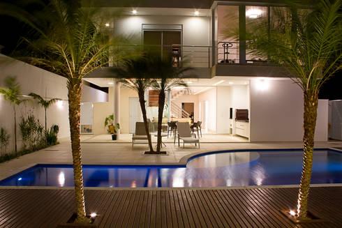 Área de Lazer: Casas modernas por HAUS