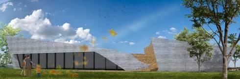 PT - Perspectiva Nordeste EN - Northeast Perspective FR - Perspective Nord-Est: Casas modernas por Office of Feeling Architecture, Lda