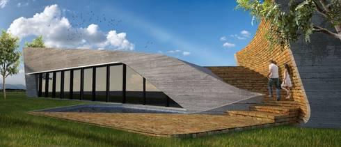 PT - Perspectiva Norte, EN - North Perspective, FR - Perspective Nord: Casas modernas por Office of Feeling Architecture, Lda