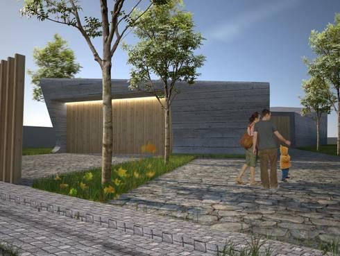 PT - Perspectiva Noroeste, EN - Northwest Perspective, FR - Perspective Nord-ouest: Casas modernas por Office of Feeling Architecture, Lda