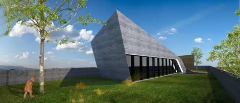 PT - Perspectiva Este, EN - East Perspective, FR - Perspective Est: Casas modernas por Office of Feeling Architecture, Lda