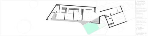 PT - Planta de Rés-do-Chão, EN - Floor Plan, FR - Plan Niveau 0:   por Office of Feeling Architecture, Lda