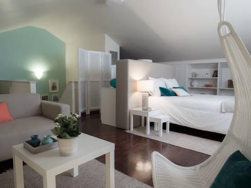 Quarto Havana: Quartos modernos por MUDA Home Design