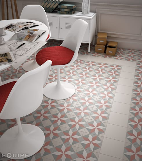 Caprice White, DECO Magic Pastel 20x20: Comedores de estilo ecléctico de Equipe Ceramicas