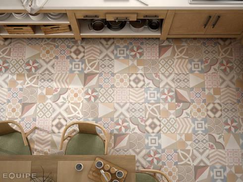 Caprice DECO Patchwork Pastel 20x20: Cocinas de estilo ecléctico de Equipe Ceramicas