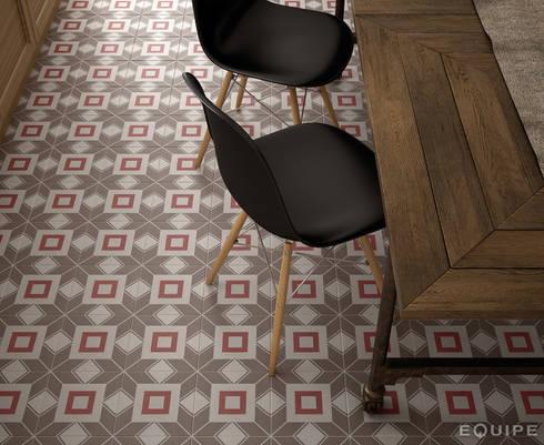 Caprice DECO Decal Colours 20x20: Comedores de estilo ecléctico de Equipe Ceramicas