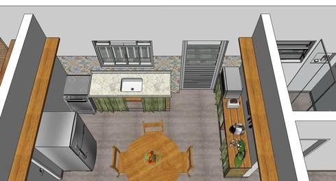 Cozinha: Cozinhas rústicas por Natali de Mello - Arquitetura e Arte