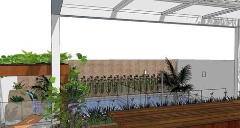 Área de lazer: Piscinas modernas por Natali de Mello - Arquitetura e Arte