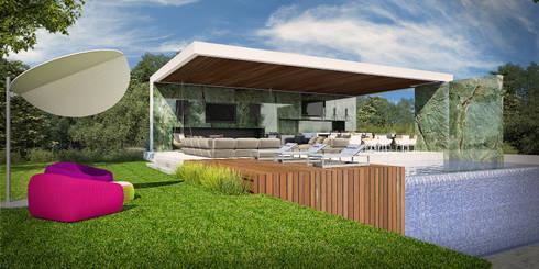 PABELLON MALLORCA: Casas de estilo moderno por GGF Capital Arquitectonica