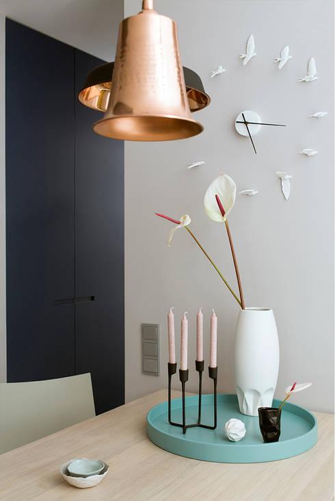 Ażur w Pastelach: styl , w kategorii Jadalnia zaprojektowany przez Pracownia Projektowa Poco Design