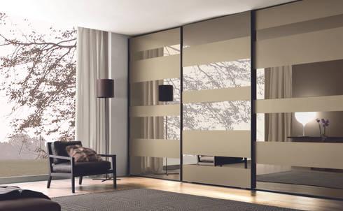 Beau Segmenta Sliding Door Wardrobe   Pictured Here In Bronze Mirror And Frosted  Bronze Mirror.: