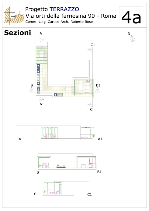 Idea di progetto di un terrazzo - Roma, Via Orti della Farnesina di ...
