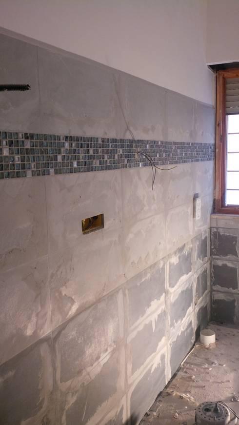 Ristrutturazione completa appartamento roma via - Posa mosaico bagno ...