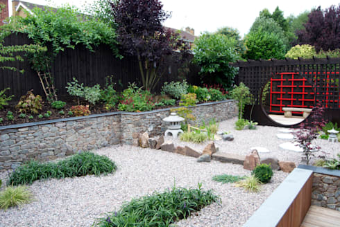 A Granite Chip Sea With Floating Islands: Asian Garden By Lush Garden Design Part 94