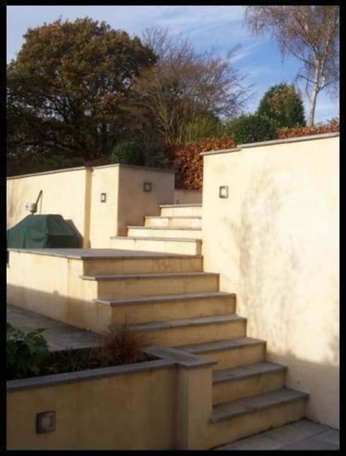 Main steps to lower levels.:   by Westacott Gardens