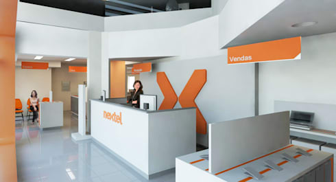 Nextel: Lojas e imóveis comerciais  por Logi Arquitetura