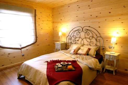 Dormitorio Natura Blu 111: Dormitorios de estilo moderno de Casas Natura