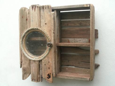 Genial Driftwood Wall Cabinet: Rustic Bathroom By Juliau0027s Driftwood
