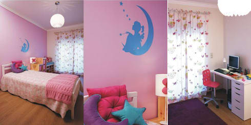 Quarto de menina: Quartos de criança modernos por Traço Magenta - Design de Interiores