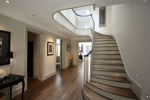 Hall : modern Corridor, hallway & stairs by Zodiac Design