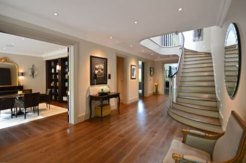 The hall : modern Corridor, hallway & stairs by Zodiac Design