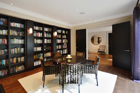 The library : modern Dining room by Zodiac Design