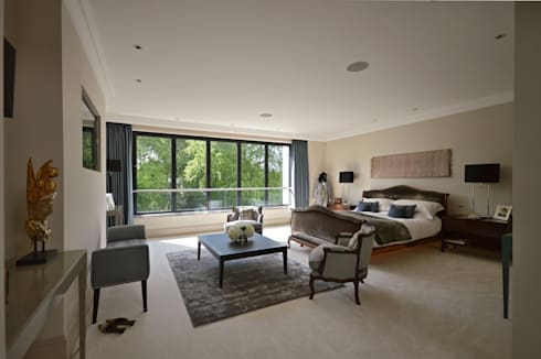 The master bedroom : modern Bedroom by Zodiac Design