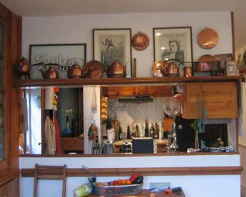 The kitchen - before: rustic Kitchen by Cathy Phillips & Co