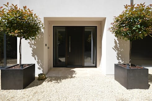 The front door: modern Houses by Zodiac Design