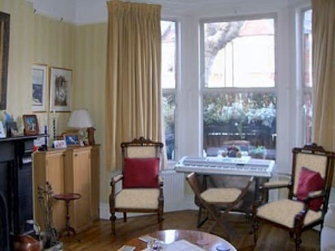 Living room - before: classic Dining room by Cathy Phillips & Co