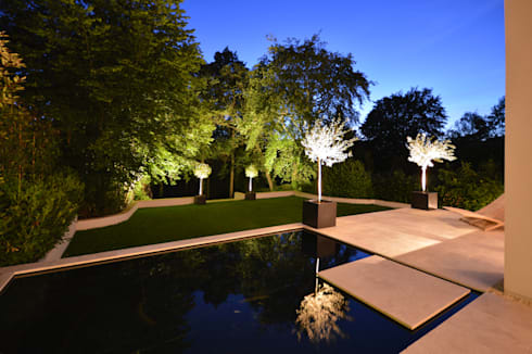 Heated splash pond : modern Garden by Zodiac Design