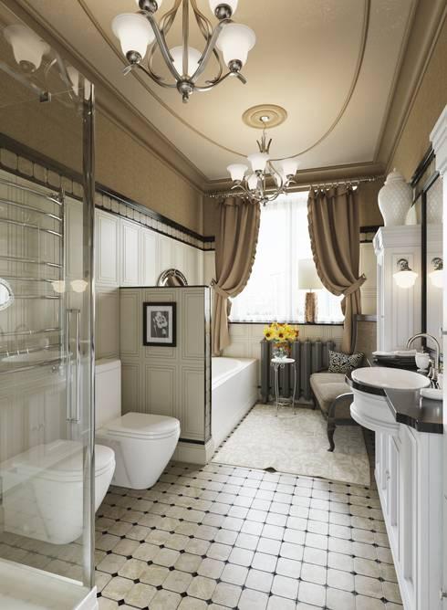 Ванная комната: Ванные комнаты в . Автор – Студия Искандарова