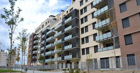 Vista principal: Casas de estilo moderno de ALIA, Arquitectura, Energía y Medio Ambiente