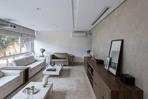 Apartamento MA: Salas de estar modernas por BEP Arquitetos Associados