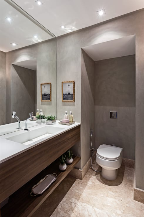Baños de estilo moderno por BEP Arquitetos Associados