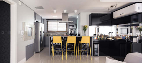Bancada Bar: Salas de estar modernas por Blacher Arquitetura